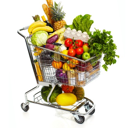 Shopping Cart with Health Food